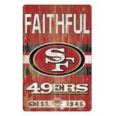 San Francisco 49ers Sign 11x17 Wood Slogan Design