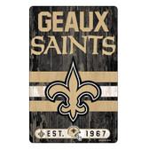 New Orleans Saints Sign 11x17 Wood Slogan Design