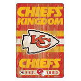 Kansas City Chiefs Sign 11x17 Wood Slogan Design