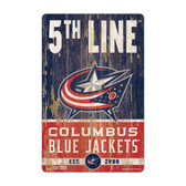 Columbus Blue Jackets Sign 11x17 Wood Slogan Design