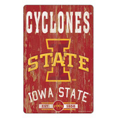 Iowa State Cyclones Sign 11x17 Wood Slogan Design