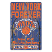 New York Knicks Sign 11x17 Wood Slogan Design