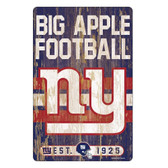 New York Giants Sign 11x17 Wood Slogan Design
