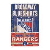 New York Rangers Sign 11x17 Wood Slogan Design