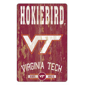 Virginia Tech Hokies Sign 11x17 Wood Slogan Design