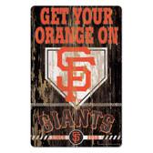 San Francisco Giants Sign 11x17 Wood Slogan Design