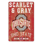Ohio State Buckeyes Sign 11x17 Wood Slogan Design