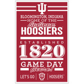 Indiana Hoosiers Sign 11x17 Wood Established Design