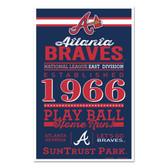 Atlanta Braves Sign 11x17 Wood Established Design