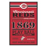 Cincinnati Reds Sign 11x17 Wood Established Design