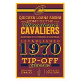 Cleveland Cavaliers Sign 11x17 Wood Established Design