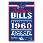 Buffalo Bills Sign 11x17 Wood Established Design