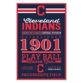 Cleveland Indians Sign 11x17 Wood Established Design