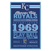 Kansas City Royals Sign 11x17 Wood Established Design