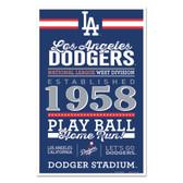 Los Angeles Dodgers Sign 11x17 Wood Established Design