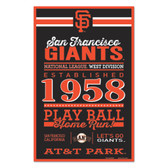 San Francisco Giants Sign 11x17 Wood Established Design