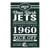 New York Jets Sign 11x17 Wood Established Design
