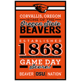 Oregon State Beavers Sign 11x17 Wood Established Design