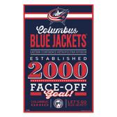 Columbus Blue Jackets Sign 11x17 Wood Established Design
