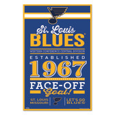St. Louis Blues Sign 11x17 Wood Established Design