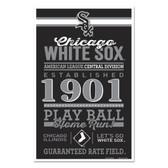 Chicago White Sox Sign 11x17 Wood Established Design