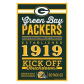 Green Bay Packers Sign 11x17 Wood Established Design