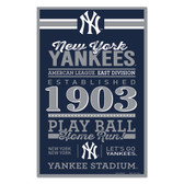 New York Yankees Sign 11x17 Wood Established Design