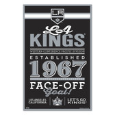 Los Angeles Kings Sign 11x17 Wood Established Design