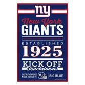 New York Giants Sign 11x17 Wood Established Design