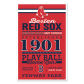 Boston Red Sox Sign 11x17 Wood Established Design