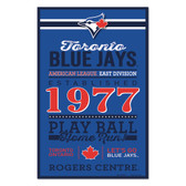 Toronto Blue Jays Sign 11x17 Wood Established Design