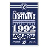 Tampa Bay Lightning Sign 11x17 Wood Established Design