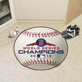 "Boston Red Sox 2018 World Series Champions Baseball Mat 26"" diameter"
