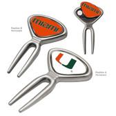 Miami Hurricanes Metal Divot Tool