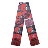 Cleveland Browns Scarf Printed Bar Design