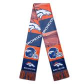 Denver Broncos Scarf Printed Bar Design