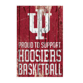 Indiana Hoosiers Sign 11x17 Wood Proud to Support Design