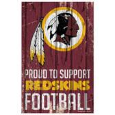 Washington Redskins Sign 11x17 Wood Proud to Support Design