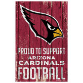Arizona Cardinals Sign 11x17 Wood Proud to Support Design