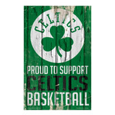 Boston Celtics Sign 11x17 Wood Proud to Support Design