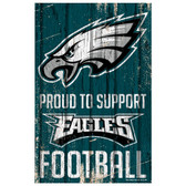 Philadelphia Eagles Sign 11x17 Wood Proud to Support Design