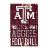 Texas A&M Aggies Sign 11x17 Wood Proud to Support Design