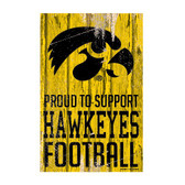 Iowa Hawkeyes Sign 11x17 Wood Proud to Support Design