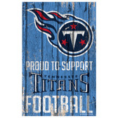 Tennessee Titans Sign 11x17 Wood Proud to Support Design