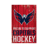 Washington Capitals Sign 11x17 Wood Proud to Support Design