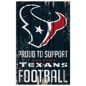 Houston Texans Sign 11x17 Wood Proud to Support Design