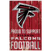 Atlanta Falcons Sign 11x17 Wood Proud to Support Design