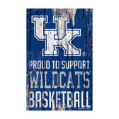 Kentucky Wildcats Sign 11x17 Wood Proud to Support Design