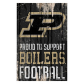 Purdue Boilermakers Sign 11x17 Wood Proud to Support Design
