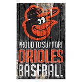 Baltimore Orioles Sign 11x17 Wood Proud to Support Design